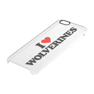 I LOVE WOLVERINES UNCOMMON CLEARLY™ DEFLECTOR iPhone 6 CASE