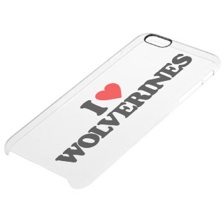 I LOVE WOLVERINES UNCOMMON CLEARLY™ DEFLECTOR iPhone 6 PLUS CASE
