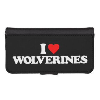 I LOVE WOLVERINES iPhone 5 WALLET CASE