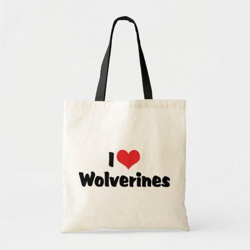 I Love Wolverines Tote Bag