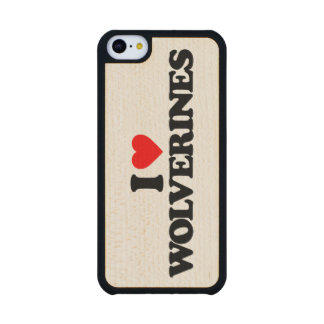 I LOVE WOLVERINES CARVED® MAPLE iPhone 5C CASE