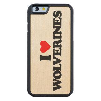 I LOVE WOLVERINES CARVED® MAPLE iPhone 6 BUMPER CASE