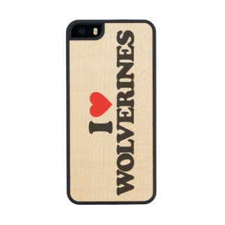 I LOVE WOLVERINES CARVED® MAPLE iPhone 5 CASE