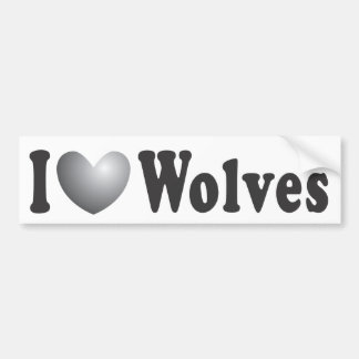 "I ""LOVE"" Wolves - Bumper Sticker"