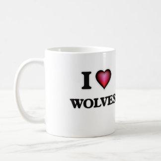 I Love Wolves Coffee Mug