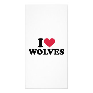 I love wolves photo card