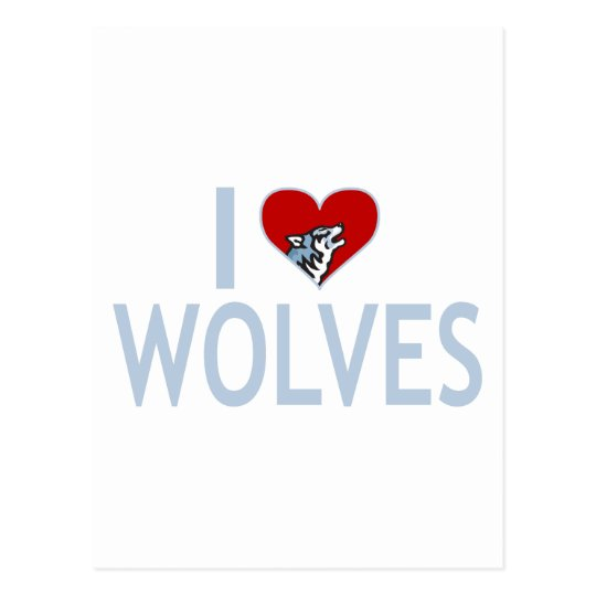 I Love Wolves Postcard