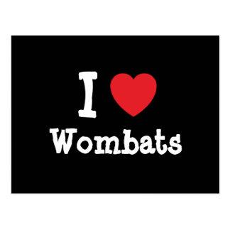 I love Wombats heart custom personalized Postcard