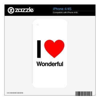 i love wonderful iPhone 4S skins