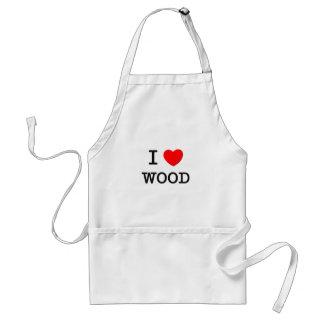 I Love Wood Adult Apron