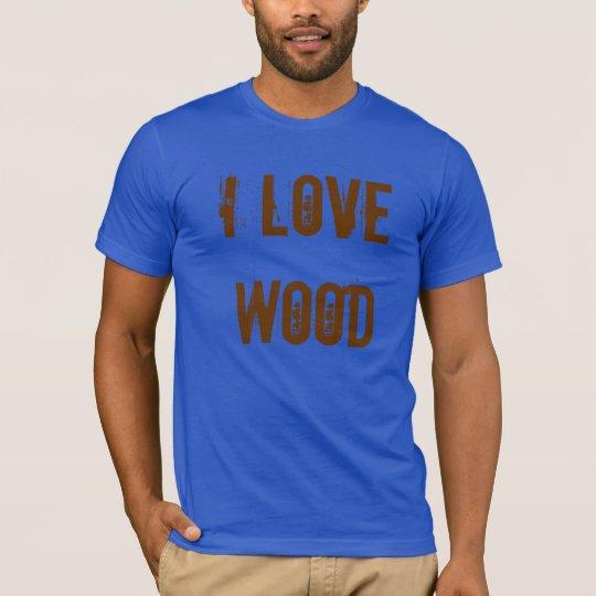 """I Love Wood"" Carpenter Tool T-Shirt"