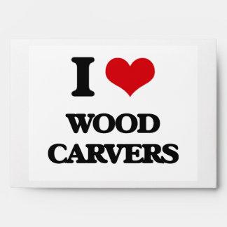 I love Wood Carvers Envelope