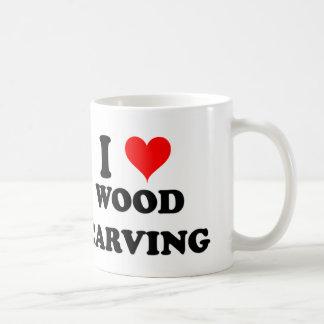 I Love Wood Carving Mugs