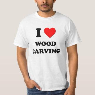 I Love Wood Carving T Shirt