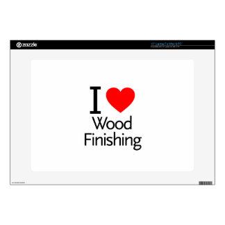I Love Wood Finishing Laptop Skin