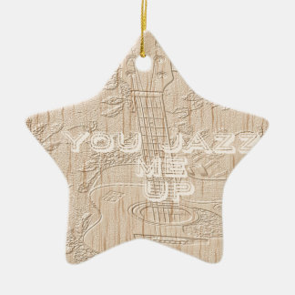 I love wood going brown Hakuna Matata Double-Sided Star Ceramic Christmas Ornament