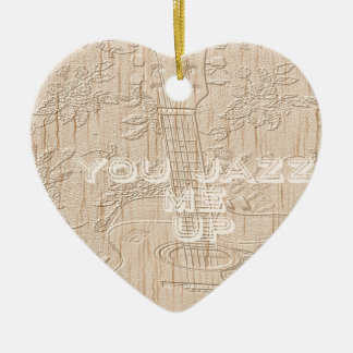 I love wood going brown Hakuna Matata Double-Sided Heart Ceramic Christmas Ornament