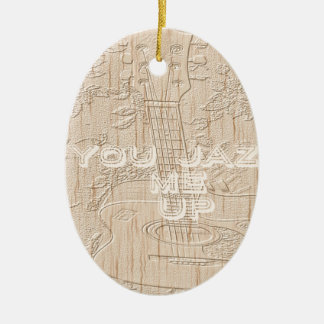 I love wood going brown Hakuna Matata Double-Sided Oval Ceramic Christmas Ornament