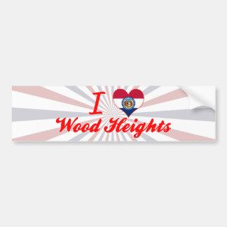 I Love Wood Heights, Missouri Car Bumper Sticker