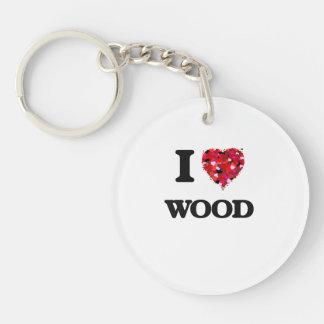 I love Wood Keychain