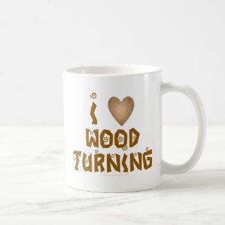 I Love Wood Turning Wooden Heart Classic White Coffee Mug