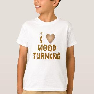 I Love Wood Turning Wooden Heart T-Shirt