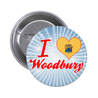 I Love Woodbury New Jersey Pinback Buttons