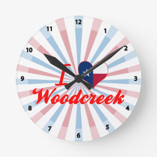 I Love Woodcreek, Texas Wall Clock