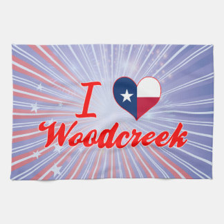 I Love Woodcreek, Texas Hand Towel