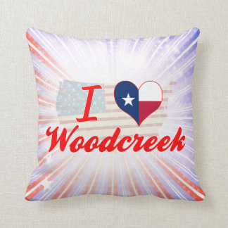 I Love Woodcreek, Texas Throw Pillow
