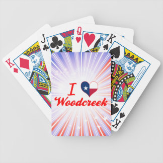 I Love Woodcreek, Texas Bicycle Card Deck