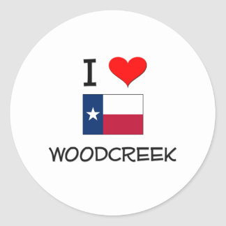 I Love Woodcreek Texas Sticker