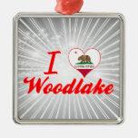 I Love Woodlake, California Christmas Ornament
