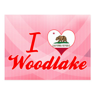 I Love Woodlake, California Postcard