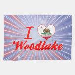 I Love Woodlake, California Towel