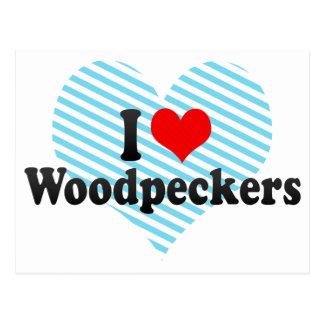 I Love Woodpeckers Postcard