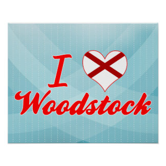 I Love Woodstock Alabama Print