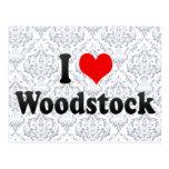 I Love Woodstock, Canada Postcard
