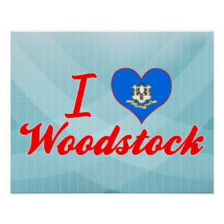 I Love Woodstock Connecticut Posters