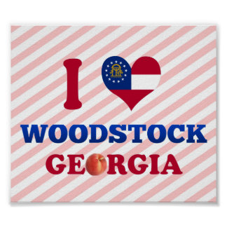 I Love Woodstock Georgia Posters