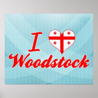I Love Woodstock Georgia Print