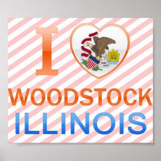 I Love Woodstock IL Print