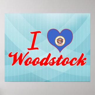 I Love Woodstock Minnesota Posters