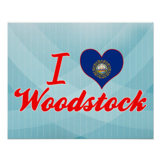 I Love Woodstock New Hampshire Print