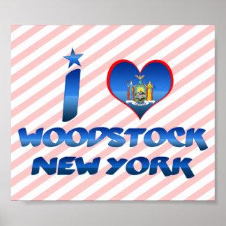 I love Woodstock New York Poster