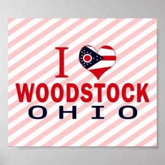 I love Woodstock Ohio Posters