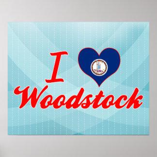 I Love Woodstock, Virginia Posters