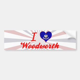 I Love Woodworth, Louisiana Bumper Sticker