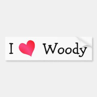I Love Woody Bumper Sticker