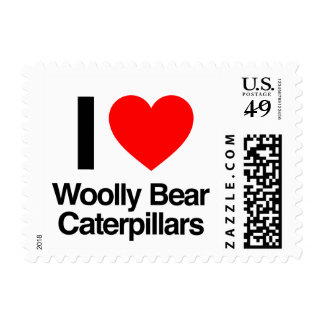 i love woolly bear caterpillars postage stamp